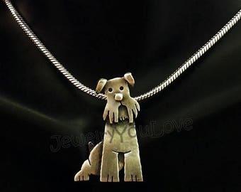 Sterling Silver Miniature Schnauzer Necklace - Murphy