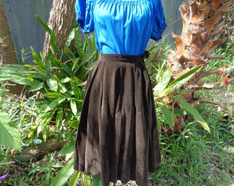 40s 50s Dark Brown Velvet Nardis of Dallas Full Skirt by jeansvintagecloset on Etsy