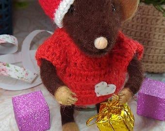 TO ORDER felt mouse miniature mouse felting animal  toy  decor miniature animal toys wool gif toys mouse wool need felted felted animals