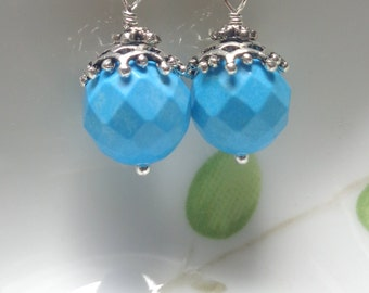 Turquoise Earrings. Turquoise  Dangle Earrings. Turquoise Jewelry., Blue Earrings, Blue Jewelry Gemstone Earrings Gemstone Jewelry