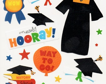 Graduation Sticko  Scrapbook Stickers Embellishments Cardmaking Crafts