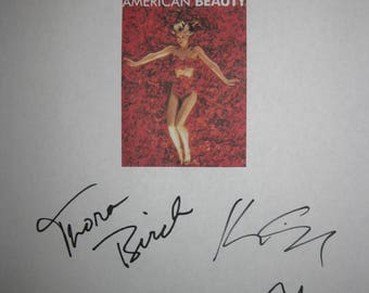 American Beauty Signed Film Movie Screenplay Script X6 Autograph Kevin Spacey Annette Bening Birch Wes Bentley Mena Suvari Allison Janney