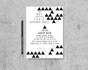 Einladung zur Erwachsenen gemeinsame Geburtstagsfeier