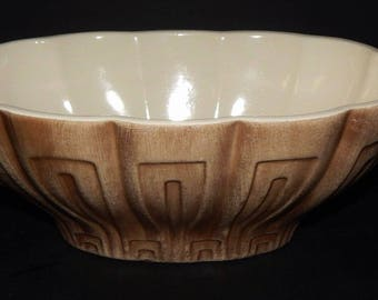 Haeger Pottery No.17 Planter in Golden Brown signed USA Mid Century Vintage