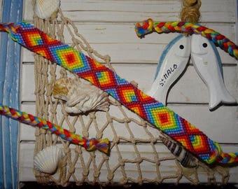 "Friendship Bracelet ""Rainbow Peace and love"""