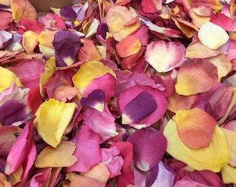 Wedding Petals. Rose Petals. Flower Petals. Wedding Confetti. Flower Confetti. Real Rose Petals. Aisle Petals. 100 cups Tutti Fruity Petals.