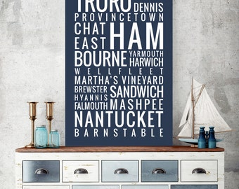 Cape Cod, Massachusetts - Typography Print
