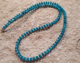 Jade Necklace, faceted 4 mm #678