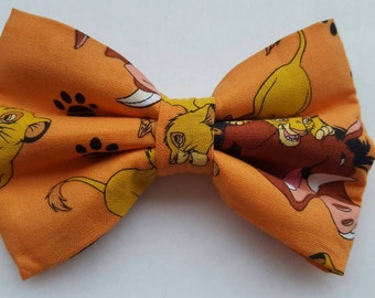 Lion King inspired hair bow/ boys bow tie/ dog bow tie