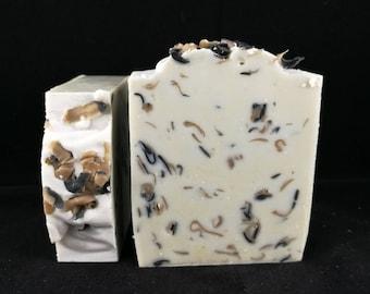 Lemongrass soap, essential oil soap, soap for men, confetti soap, cold process soap, charcoal soap, natural soap, shave soap, facial soap