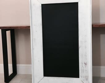 XL White Distressed Wood Chalkboard