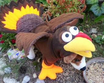 FleeceTurkey Hoodie for Dogs - without feathers