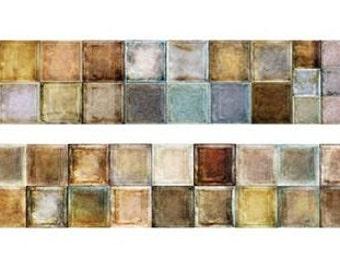Mosaic Vintage Style Washi Tape (25mm X 5M)