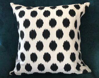 Black and white dots pillow cover ,sofa pillow cover