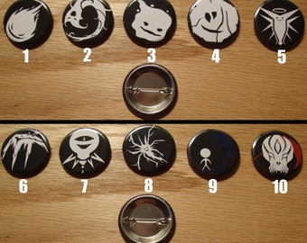 """Elemental Tribe 1.25"""" Graphic Button Set (5 Buttons)"""