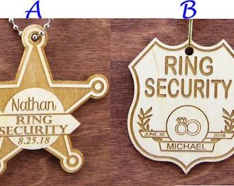 Ring Security Ring Bearer Badge, Ring Security Badge, Ring Bearer Badge, Will You Be My Ring Bearer, Fun Ring Bear Gift