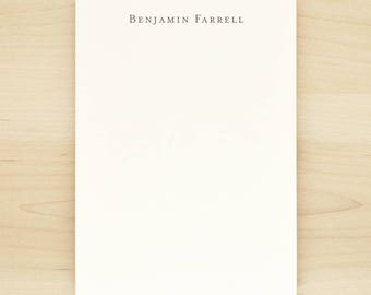 CLASSIC Personalized Notepad - Masculine Custom Business Letterhead