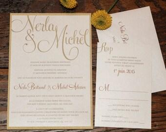 Modern Wedding Invitation, Modern Wedding Invitations, Gold Wedding Invitation, Gold Wedding Invitations, Gold Invitation, Modern Invitation