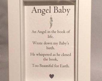 Angel Baby Box Framed print