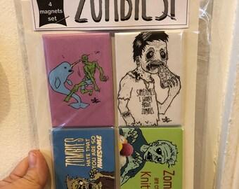 Zombie magnet set