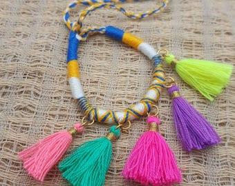 New friendsip bracelets tassel handicraft hippy boho 1 pcs.