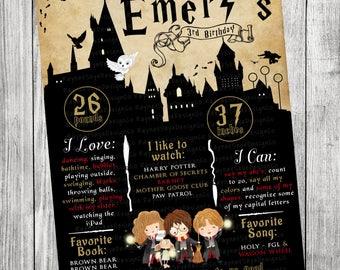 Harry Potter Milestone Birthday Poster