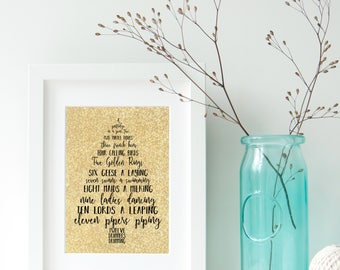 12 Days of Christmas Digital Print