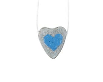 Concrete Necklace// Heart Shape// Macrame Cord// Holiday Gift//Concrete Pendant// Concreteart// Giftforher// Artdesign// Musthave