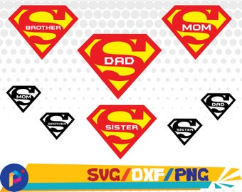 Super Dad svg,dxf,png/Super Dad clipart for Silhouette,Cricut,Design,Print and any more