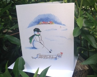 Pinehurst No. 2 Snowman Note Cards