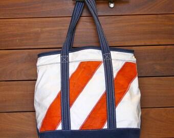 Orange Angled Stripe DaySailer Bag