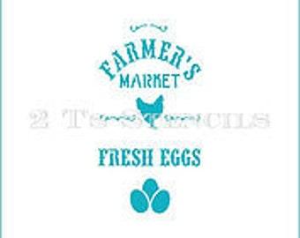 Farmer's Market Stencil By 2t's