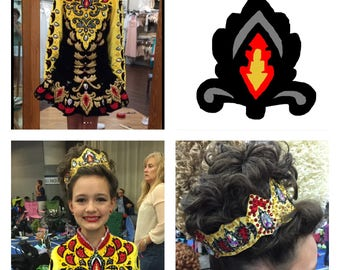 Custom designed tiara to match your solo costume. Design included.