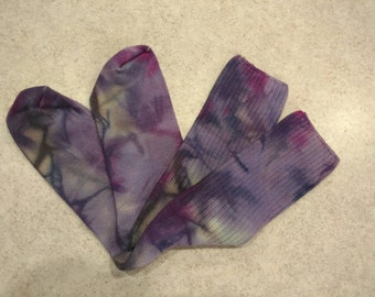 Hand Dyed Bamboo Socks size 9-11