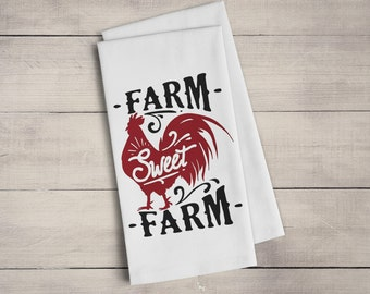 Farmhouse Dish Towel - Farm Sweet Farm Kitchen Towel