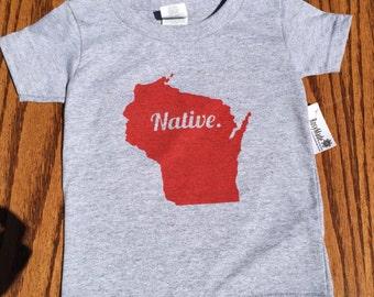 Wisconsin Native Toddler T-shirt