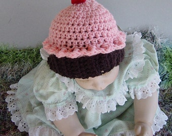 6 to 12 Month Baby Girl Cupcake Hat