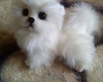 Pomeranian spitz Puppy This is a toy and not a live puppy!