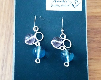 Pink and Blue Bubble Earrings
