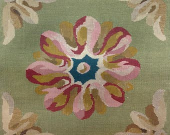 Abstract Aubusson Tapestry Pillow
