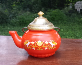 vintage avon perfume orange teapot