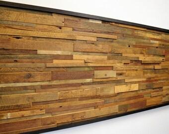 Reclaimed Barn Wood Wall Art (Horizontal Slats)          FREE SHIPPING!