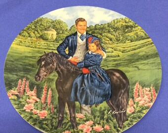 """Vintage 1985 """"Gone With the Wind"""" Plate/Bonnie and Rhett"""