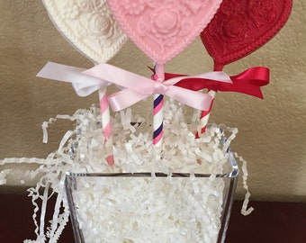 Solid Chocolate Candy Hearts/Mother's Day/Love/Weddings/Bridal Showers/Birthday Parties