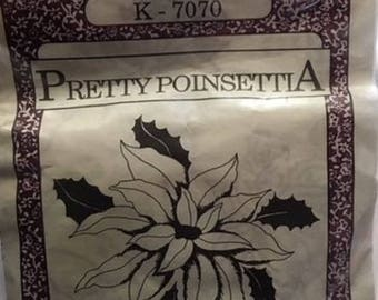 Pretty Punch Shopettes K 7070 - Punch Embroidery Kit - Pretty Poinsettia - 3 Sizes - 1989
