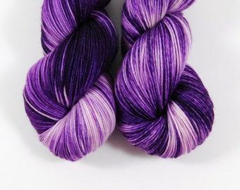 Purple Bebop, QCC Yarn, Squooshy Cat Yarn, Fingering Weight Yarn, Merino Wool, Purple