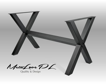 "Industrial Table, Dining Table Base, Metal Table Base, Furniture Height 26"" - 32"" Custom Sizes Available XERO 70.70"