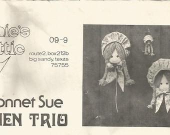 Vintage Annie's Attic Sunbonnet Sue Kitchen Trio Pattern