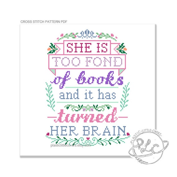 Top She is too fond of books and it has turned her brain. Modern QR12
