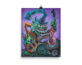 "The Captain / Fink Monster / Rat Fink Art /  Art Print Poster 8""X10"""